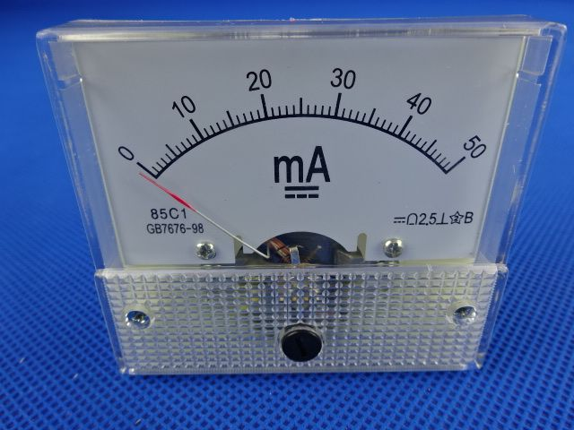 Peças para Maquina á Laser em MG: Peças para Maquina á Laser em Divinópolis: Amperímetro 50MA em Divinópolis